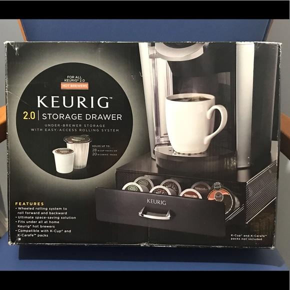 New Keurig 2.0 black storage drawer